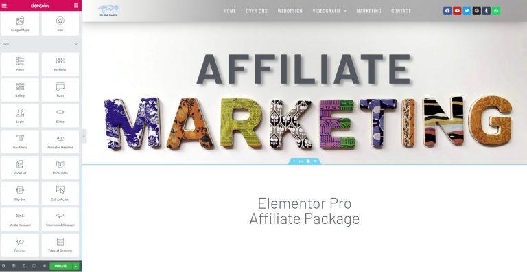 Affiliate Marketing Elementor Background