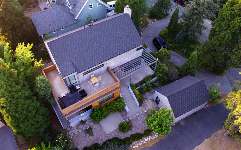 Home aerial drone picture